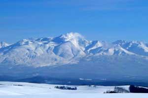 冬の十勝岳